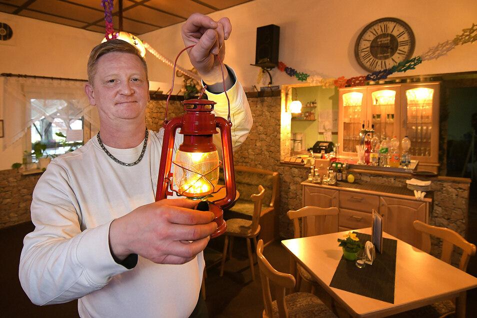 Ende des Monats macht Gastronom Andreas Müller in der letzten regulär geöffneten Gaststätte Harthas das Licht aus. Wer dann essen gehen möchte, muss die Stadt verlassen.