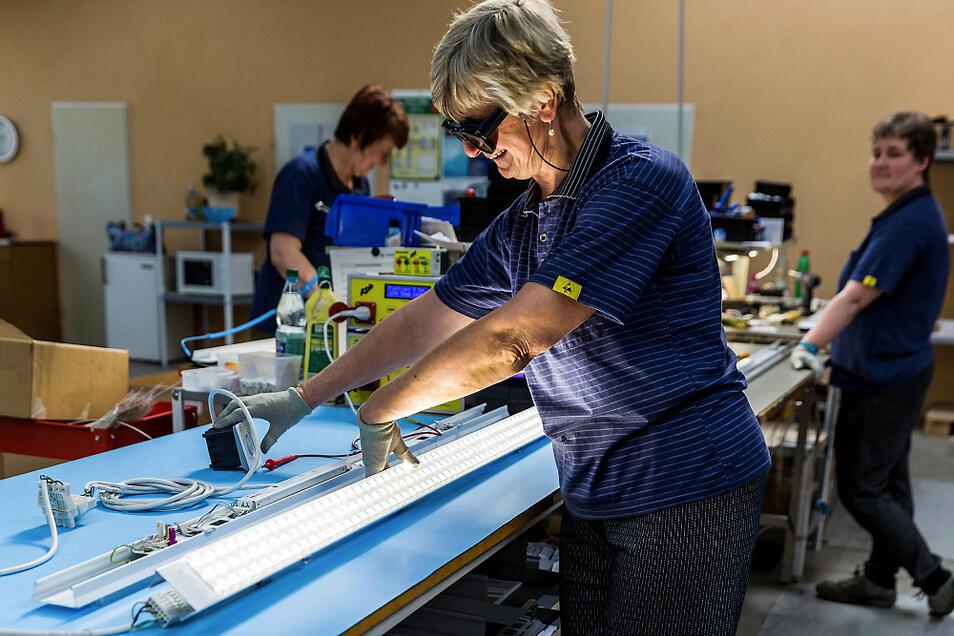 Technische Beleuchtung ist das Geschäft von Ludwig-Leuchten – hier 2017. Seit jenem Jahr ist Bergen der einzige Produktionsstandort.
