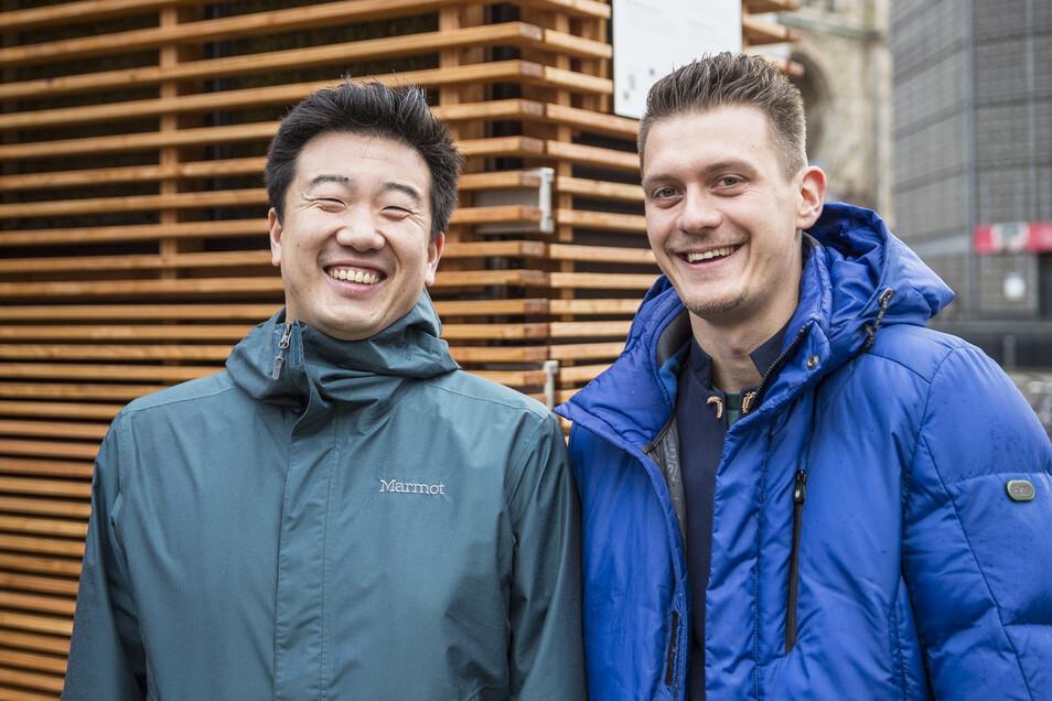 Die Grüner von Green City Solutions Liang Wu (l.) und der Vogtländer Peter Sänger.