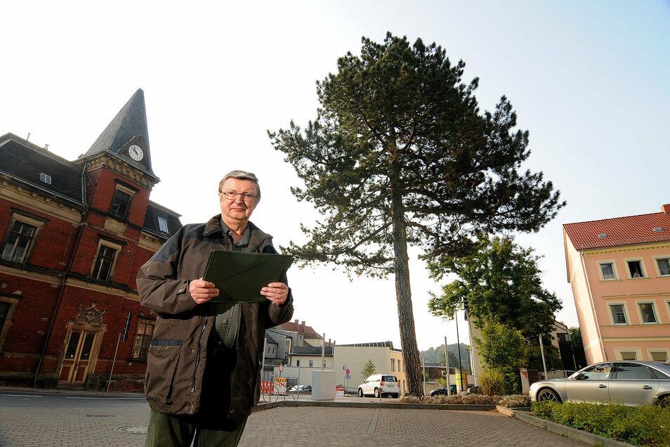 Ullrich Bänsch ist Gartenbauingenieur, wohnt in Etzdorf und hat zum Beispiel für die Stadt Roßwein schützenswerte Bäume erfasst.