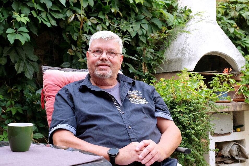 Der 53-jährige Lommatzscher Maik Hoppe kandidiert im Wahlkreis Meißen für die Basisdemokratische Partei Deutschlands für den Bundestag.