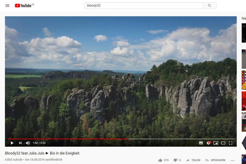 Für ein Musikvideo wurden auch Luftaufnahmen aus dem Nationalpark verwendet und gab es Kameraflüge um die Festung Königstein.