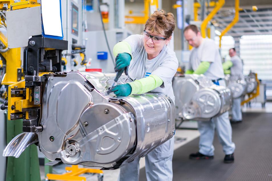 Im Wilsdruffer Werk der Firma Eberspächer werden Abgasreinigungssysteme für Nutzfahrzeuge hergestellt.