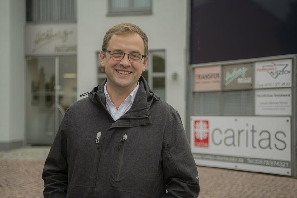 Andreas Oschika ist Geschäftsführer des Caritasverband Oberlausitz. In Kamenz hat der Verband jetzt ein neues Beratungshaus.