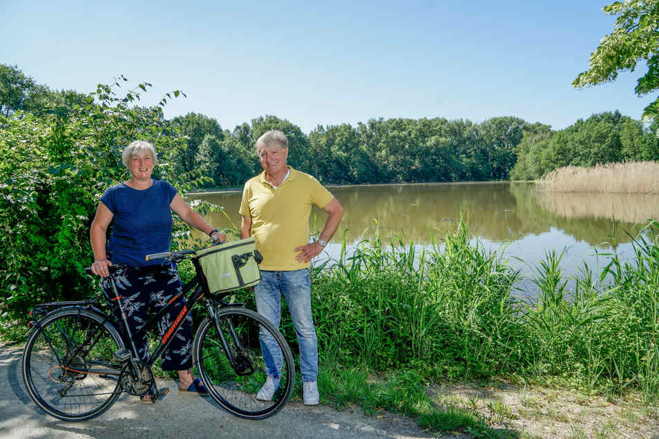 Die Niederguriger Ortschaftsräte Katja Lorenz und Bruno Schumpp sind stolz auf die Natur in ihrem Ort. Damit aber auch Gäste in die Region kommen, sehen sie die Gemeinde in der Pflicht.