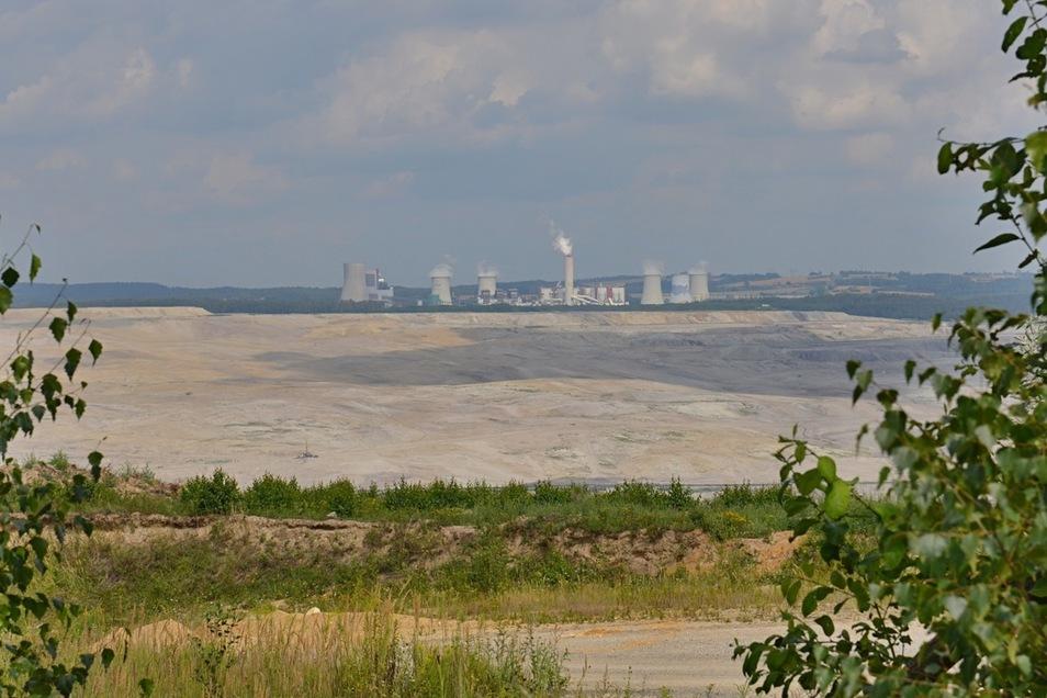Blick in den Tagebau Turów.