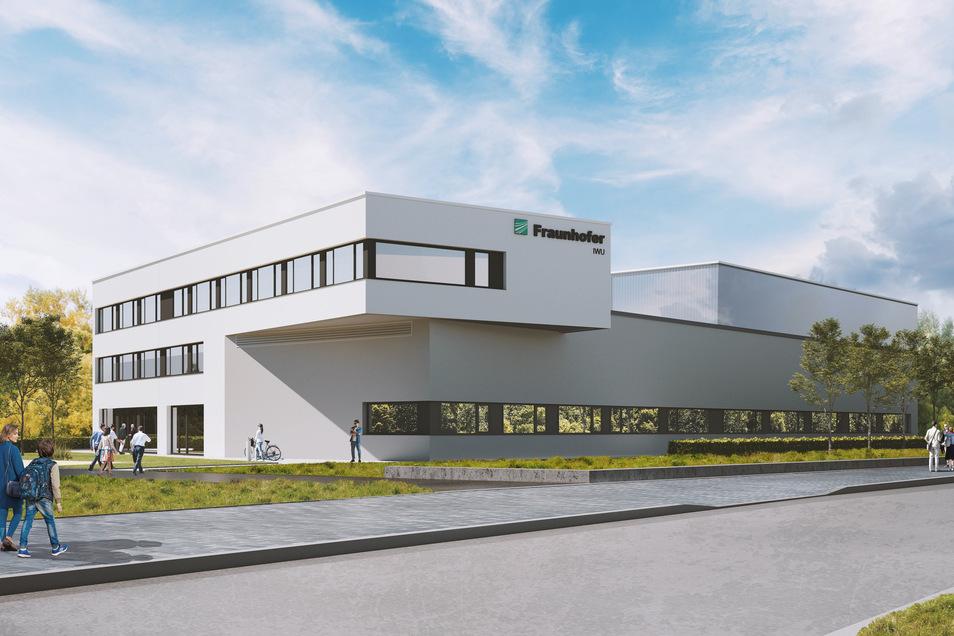 So soll das erweiterte Fraunhofer-Technikum am Zittauer Stadtring aussehen.