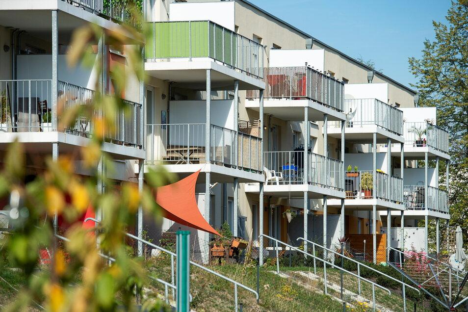 Wohnanlage in Weinhübel: Trotz allgemeiner Mietsteigerung wohnen die Menschen in Görlitz deutlich günstiger als anderswo im Osten.