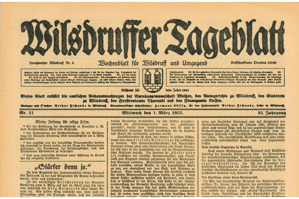 Der Wilsdruffer Ralf Engelmann (1946-2017) stieß bei seiner Recherche in früheren Ausgaben des Wilsdruffer Tageblatts auf die Pioniere des Rundfunkempfangs. Den Chef des Technikvereins, Jürgen Juhrig, haben diese Funde mehr als überrascht.