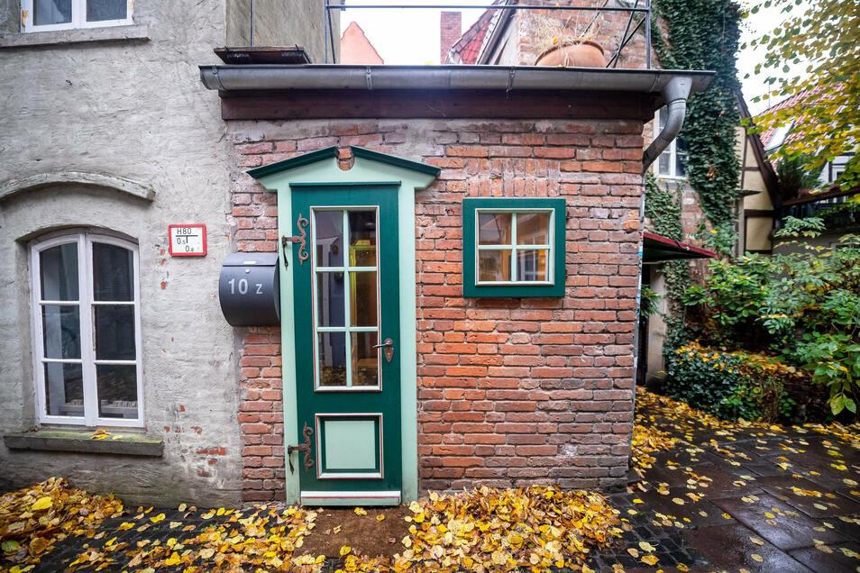 Außenansicht vom kleinsten Haus Bremens.