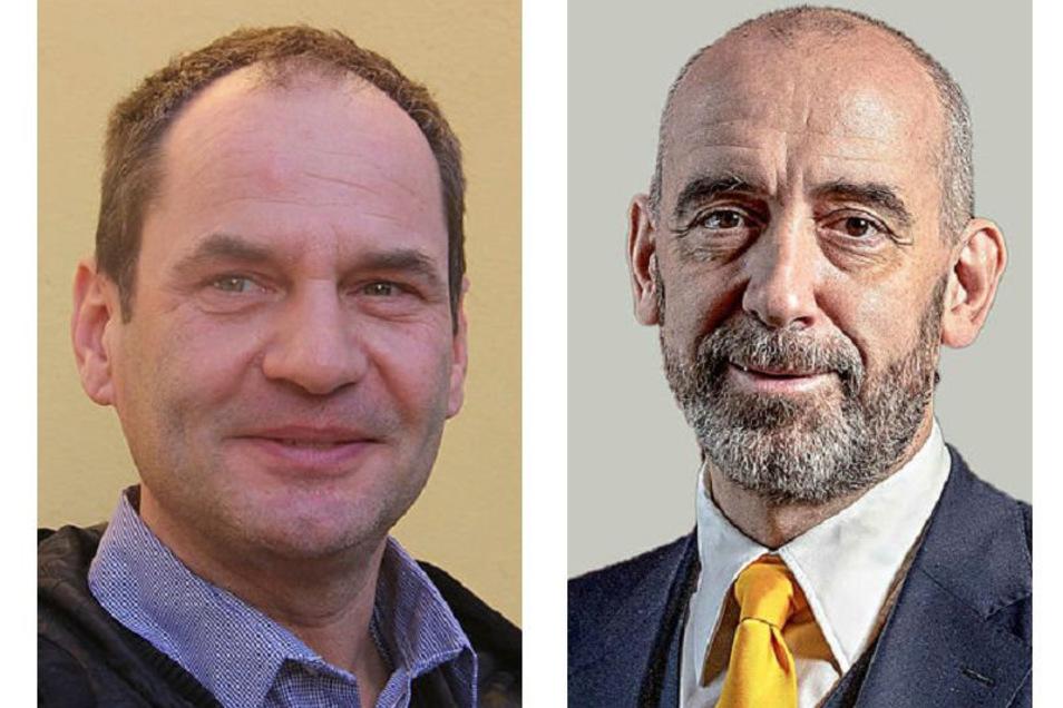 Anfang April hat Bautzens Oberbürgermeister Alexander Ahrens (r.) seinen Pressesprecher André Wucht abberufen. Er bekommt jetzt eine neue Aufgabe im Rathaus.