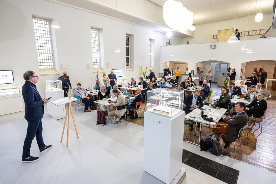Nomos Glashütte hat an zwei Tagen 70 Gäste aus dem Fachhandel und der Fachpresse empfangen. Am Dienstag waren es vor allem Journalisten.