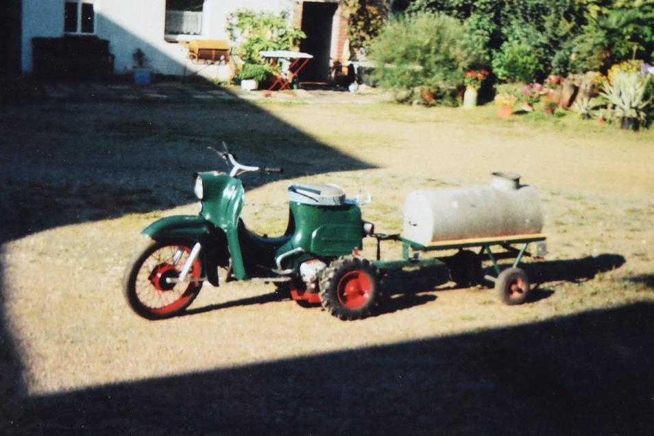 So sieht der geklaute Moped-Traktor aus.