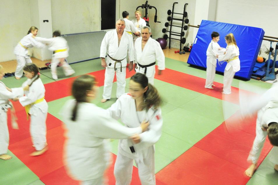 Judo in seiner Urform: Derzeit ist daran beim Großenhainer Judosportclub nicht zu denken. Trainer Steffen Klemt (hinten links) fragt, was aus den Kindern werden soll.