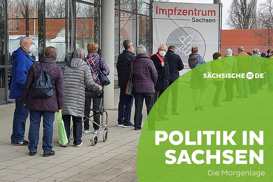 Termine in den sächsischen Impfzentren sind derzeit sehr begehrt.