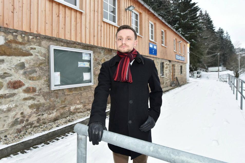 Benjamin Rosenkranz hat einen maßgeblichen Anteil daran, dass die Sportvereine aus Glashütte und Schlottwitz jetzt einen gemeinsamen Weg gehen.
