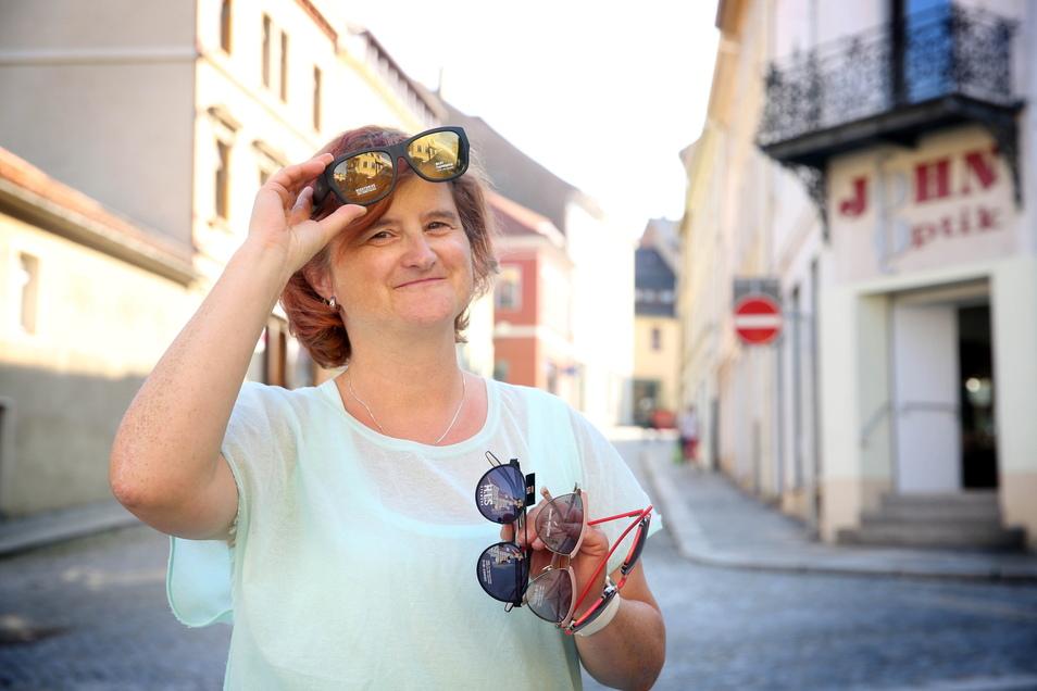 Auch Carola Büttner von John Optik an der Bautzner Straße öffnet am Sonntag, dem 12. September, den Laden. Sie gehört zum Vorstand der Cityinitiative.