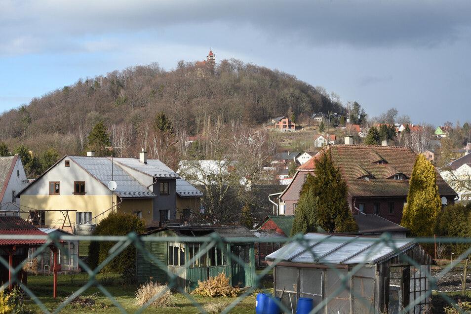 Blick auf den Hausberg von Varnsdorf.