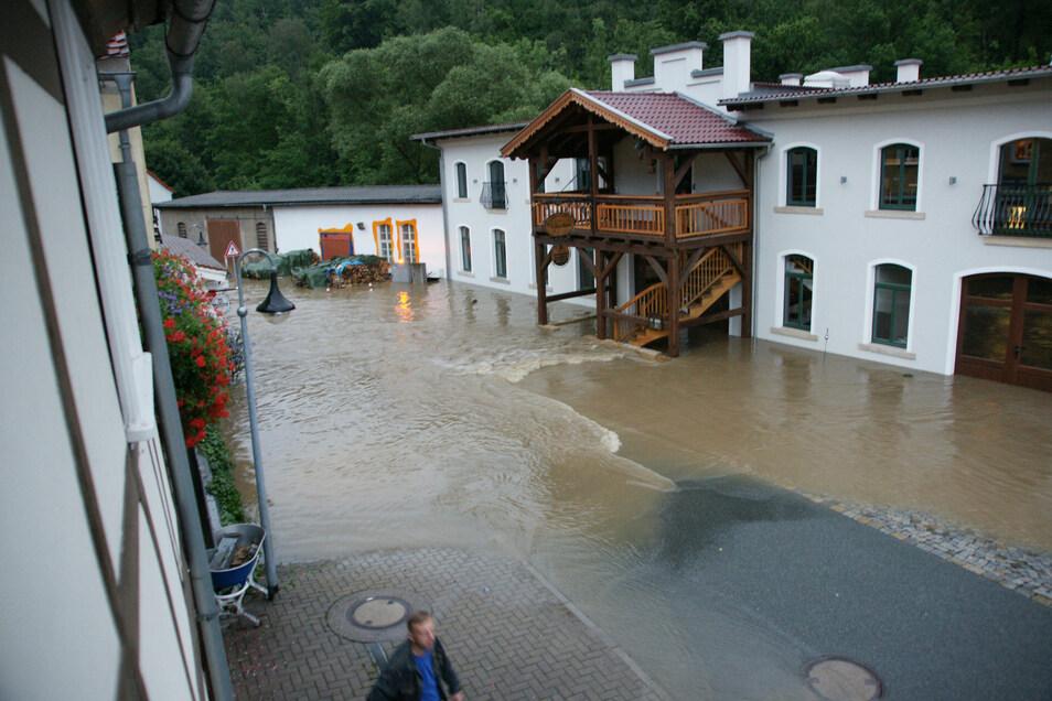 So sah es bei Engemanns am 7. August 2010 in Rosenthal aus.