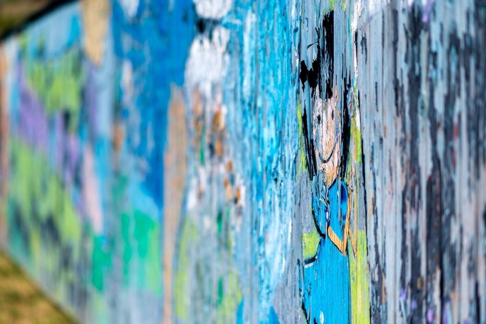 Mit Streetart-Künstlern haben Jugendliche in Sebnitz unter anderem einen Bretterzaun am Bahnhof gestaltet. Jetzt gibt es Geld für neue Aktionen.