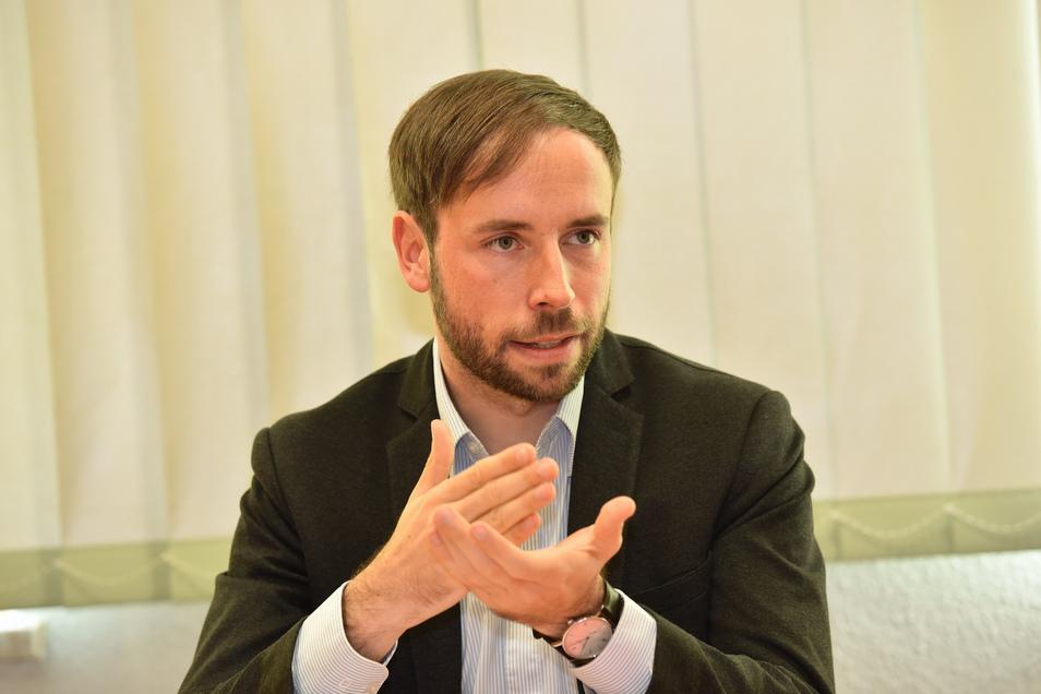 Bürgermeister Peter Pfitzenreiter ist unter anderem für die Kita-Betreuung in Freital zuständig.