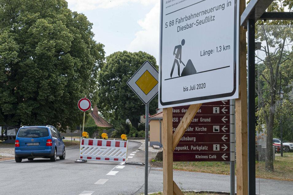 Die Ortsdurchfahrt Seußlitz ist ab Sonnabend, 4. Juli, offiziell wieder frei. Schon am Freitag fuhr aber mancher auf der S 88 durch.