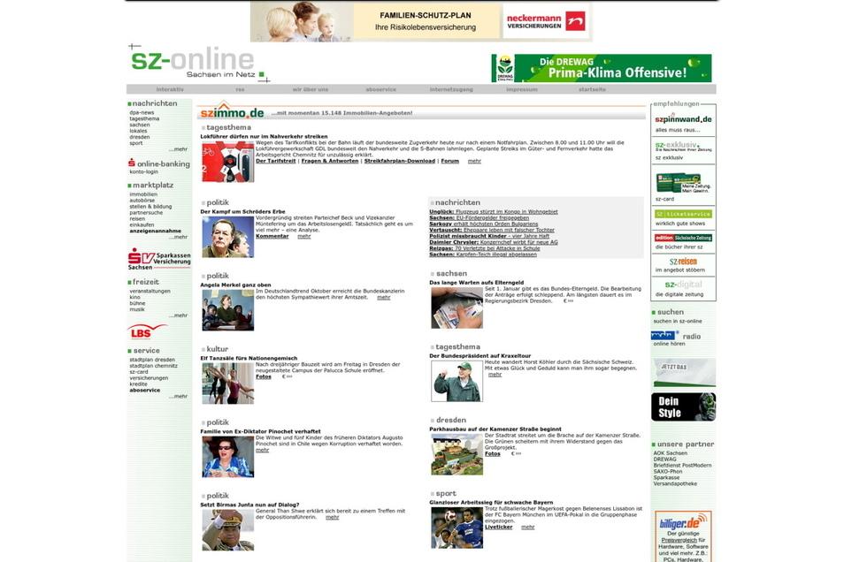 2007 bekommt die Seite einen neuen Anstrich und ein eigenes Immobilienportal.