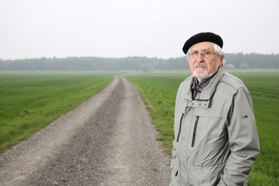 Über diesen Weg flüchtete die Familie von Gottfried Schmorl am 23. April 1945 von Zschepa aus Richtung Gohrischheide. Der promovierte Agrarwissenschaftler war damals zwölf Jahre alt.