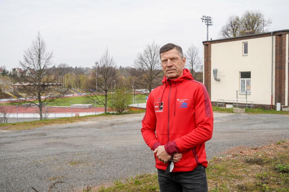Steffen Waldmann, Geschäftsführer des MSV 04 Bautzen, hofft, dass die neue Drei-Felder-Sporthalle an der Müllerwiese möglichst bald gebaut wird. Derzeit platzen die Sportstätten in der Stadt aus allen Nähten, sagt er.