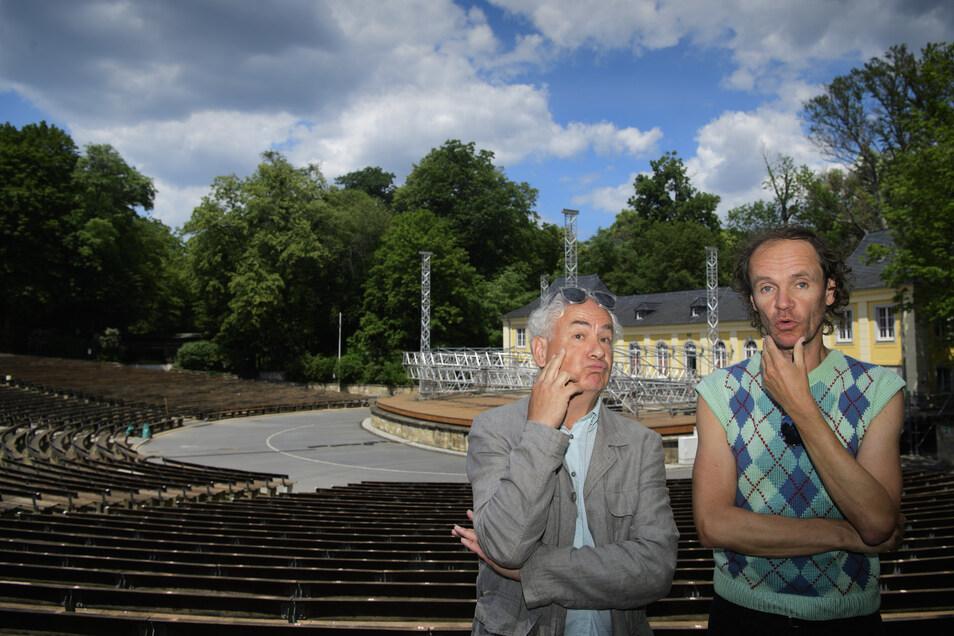 Bereiten sich mental schon auf ihre anstehenden Auftritte in der jungen Garde vor: Tom Pauls und Olaf Schubert.