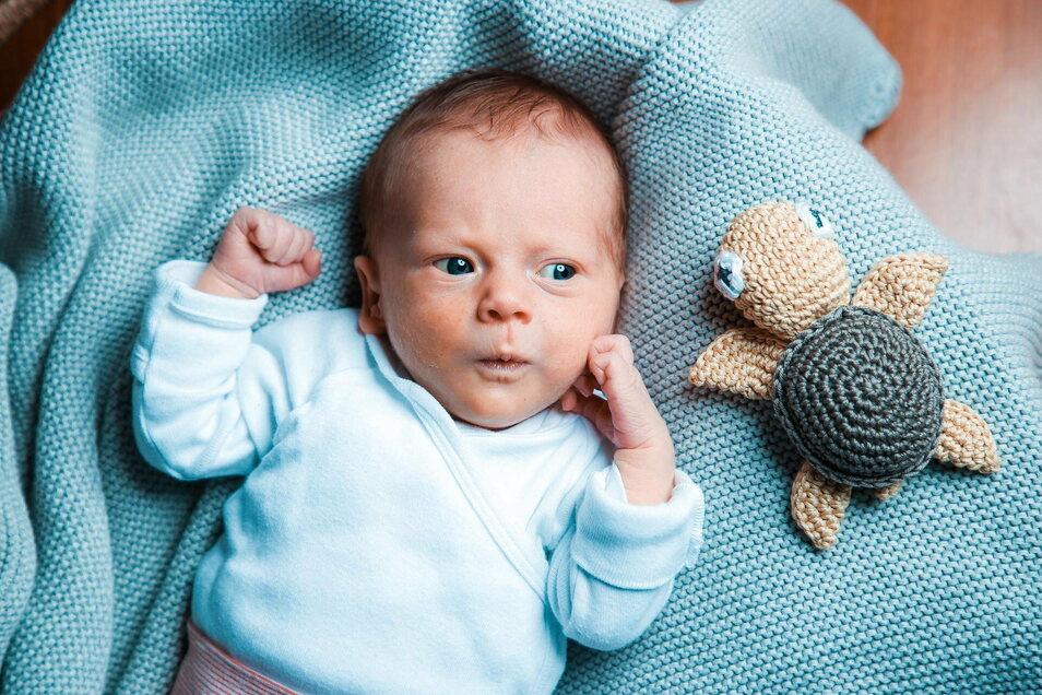 Amelie, geboren am 14. September, Geburtsort: Dresden, Gewicht: 2.330 Gramm, Größe: 44 Zentimeter, Eltern: Sarah Tischer und Axel Wittich, Wohnort: Dresden