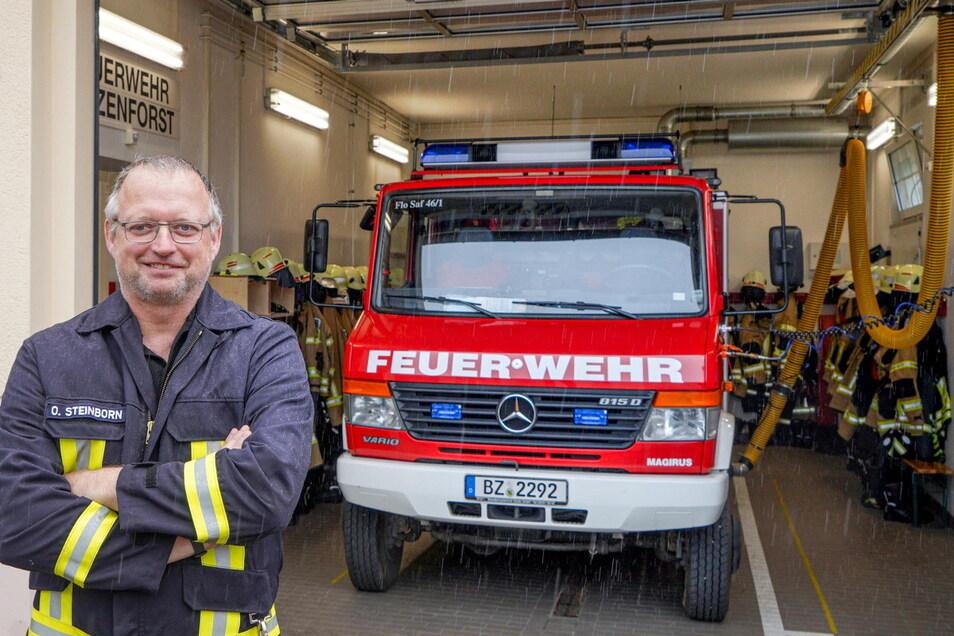 Die Feuerwache in Salzenforst ist viel zu klein und entspricht schon lange nicht mehr den aktuellen Sicherheitsvorschriften, sagt Ortswehrleiter Olaf Steinborn.