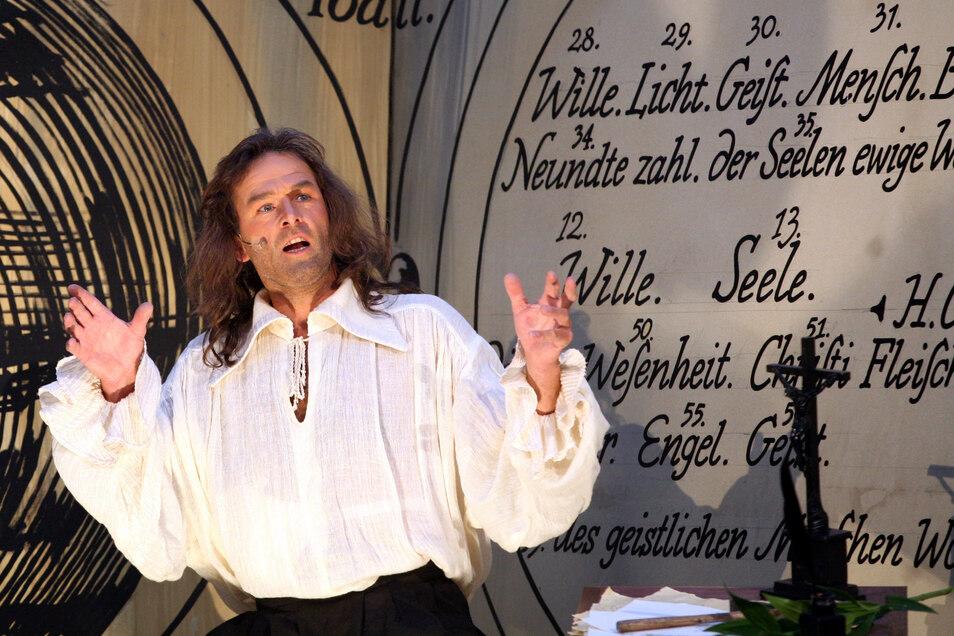So lebendig vermittelt wurde Jacob Böhme den Görlitzern zuletzt beim Historienspiel auf dem Untermarkt vor zwölf Jahren.