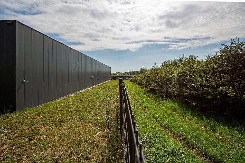 Auf diesem Geländestück möchte Emporon sein Lager (links) in Kesselsdorf um noch einmal 2.400 Quadratmeter erweitern. Der Bauantrag läuft.