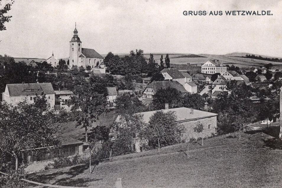 Ein Bild aus der Zeit, alsVáclavice noch Wetzwalde hieß.