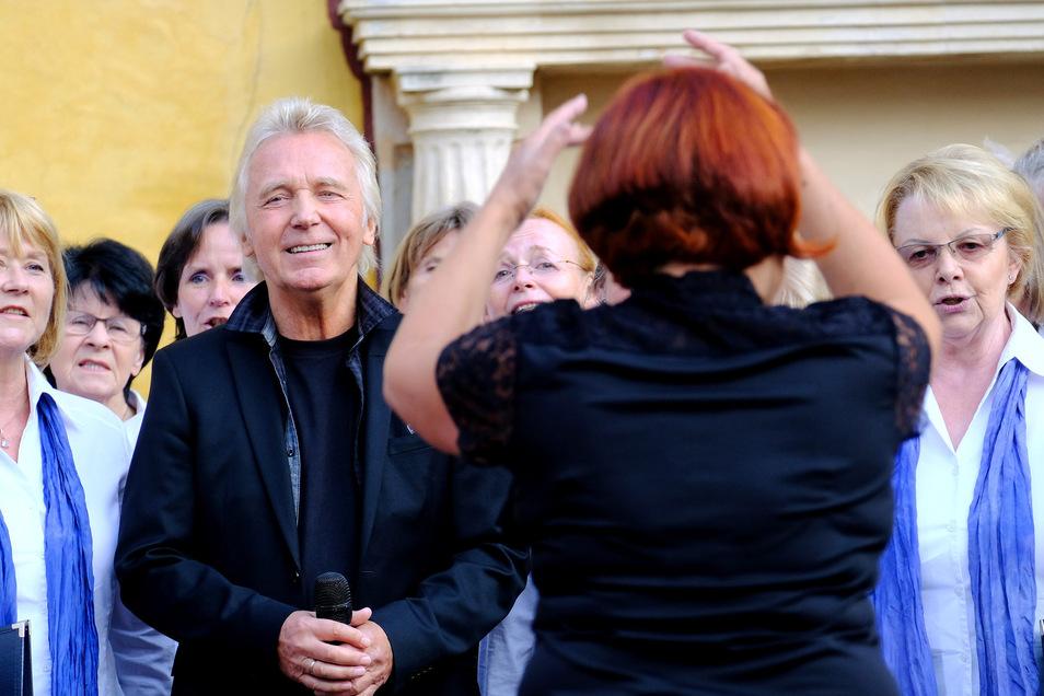 Muck (Hartmut Schulze Gerlach) sang später einige seiner bekanntesten Lieder. Als Kurator wird er das Chorfestival in Zukunft begleiten.