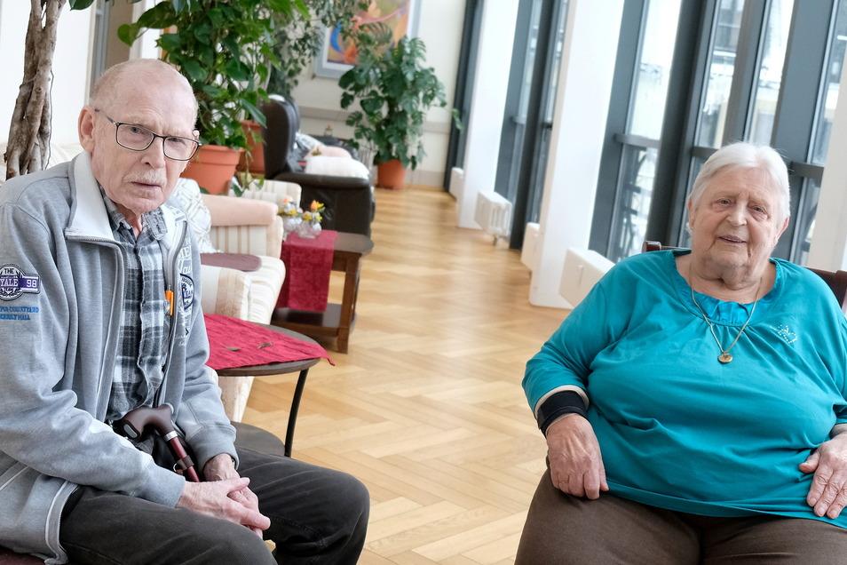 Erwin Klein und Ingrid Mentner sind trotz Isolation durch die Pandemie froh, im Katharinenhof betreut zu werden.