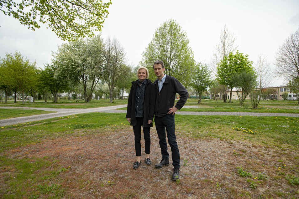 Der Camping- und Freizeitpark im Rödertal ist wegen der Corona-Sperre wie leer gefegt. Die Eigentümer Dagmar und Thomas Lux sind aber für den Neustart gerüstet.