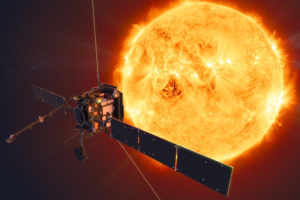 """Die Raumsonde """"Solar Orbiter"""" mit in Kiel entwickelten Messgeräten ist am Montagmorgen in Richtung Sonne gestartet."""
