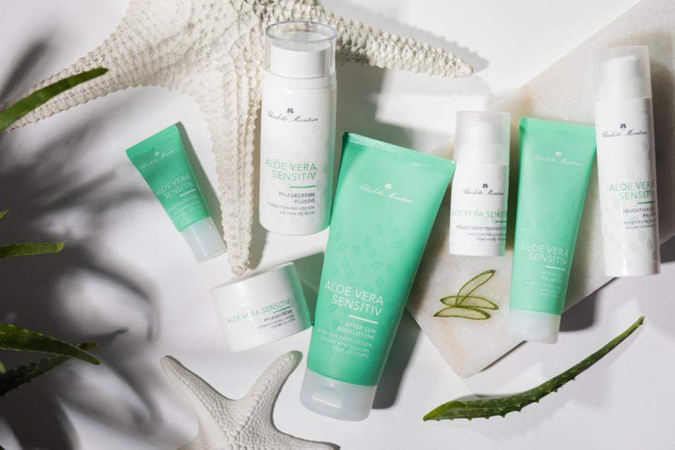 Die ALOE VERA SENSITIV-Pflegeserie von Charlotte Meentzen ist dank der beruhigenden Eigenschaften der Heilpflanze ideal für die Hautpflege im Sommer geeignet, zum Beispiel nach einem Sonnenbad.