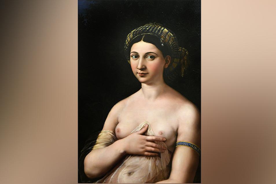 La Fornarina, gemalt 1518. Die Frau könnte Margherita Luti sein, Raffaels Geliebte.