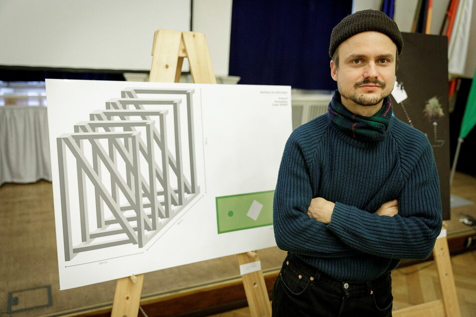 Robert Czolkoß aus Berlin und seine Dachstuhl-Idee, die er zusammen mit Tillmann Ziola verwirklichte.
