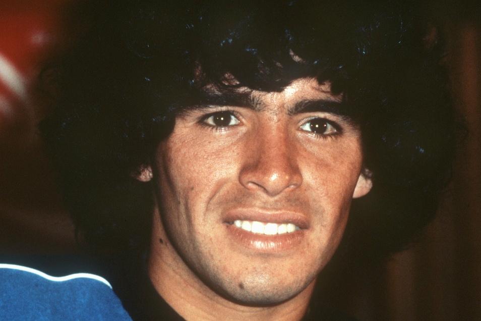 Diego Maradona auf einem Foto aus dem Jahr 1981.
