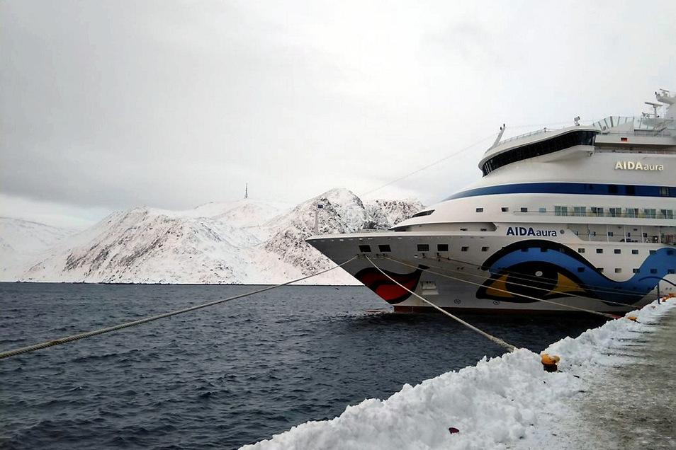 """Mit der Aida """"aura"""", einem """"kleinen"""" Schiff, erlebte Paul Noack seine turbulenteste Fahrt zu Eis und Schnee."""