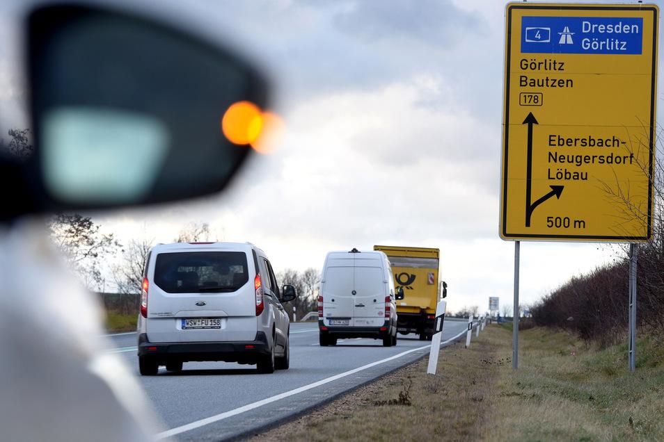 Bis zur Autobahn geht's auf der B 178 noch lange nicht.
