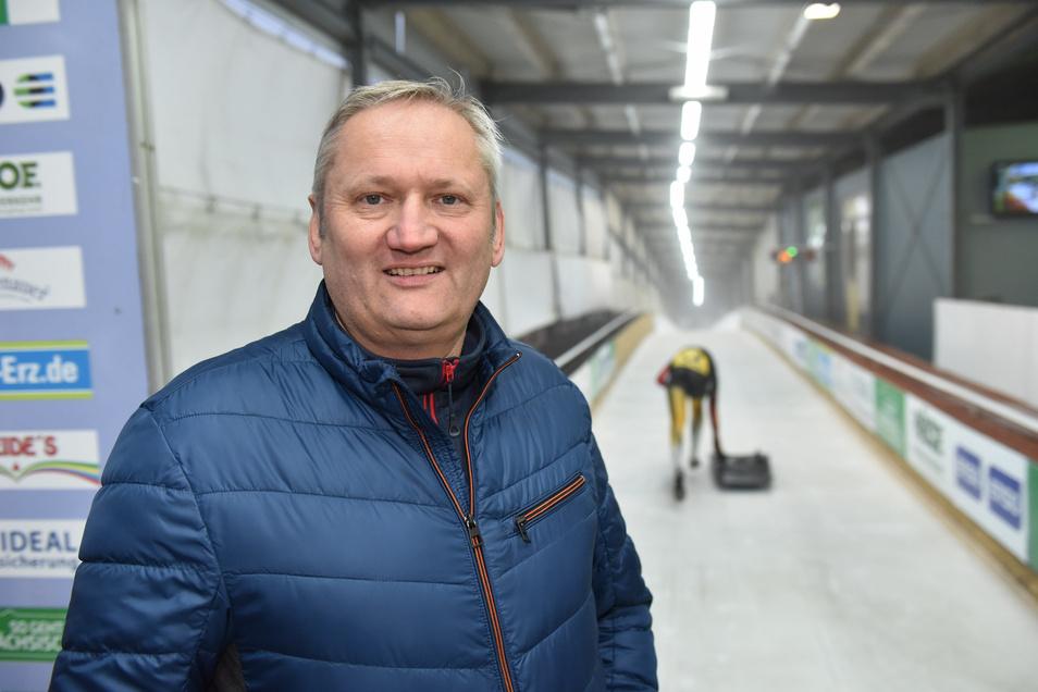 Die Logistik ist eine der größten Herausforderungen für Bahnchef Jens Morgenstern - nicht nur zum Rodel-Weltcup an diesem Wochenende.