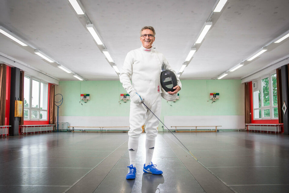 Schon wenige Wochen nach seinem Comeback als Fechter macht Rolf Pfrengle auf der Bahn wieder eine gute Figur.