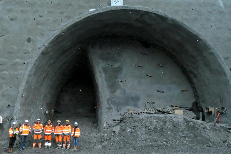 Tunneleingang am Pirnaer Kohlberg: Ab 8. Februar geht der Vortrieb weiter.