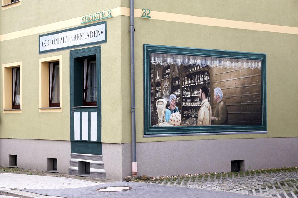 """Die Initiative """"Wir in Gröba"""" bringt nicht nur mit Fassadenmalereien Leben in den Riesaer Stadtteil. Jetzt richtet sie auch wieder ein Sonntagscafé aus."""
