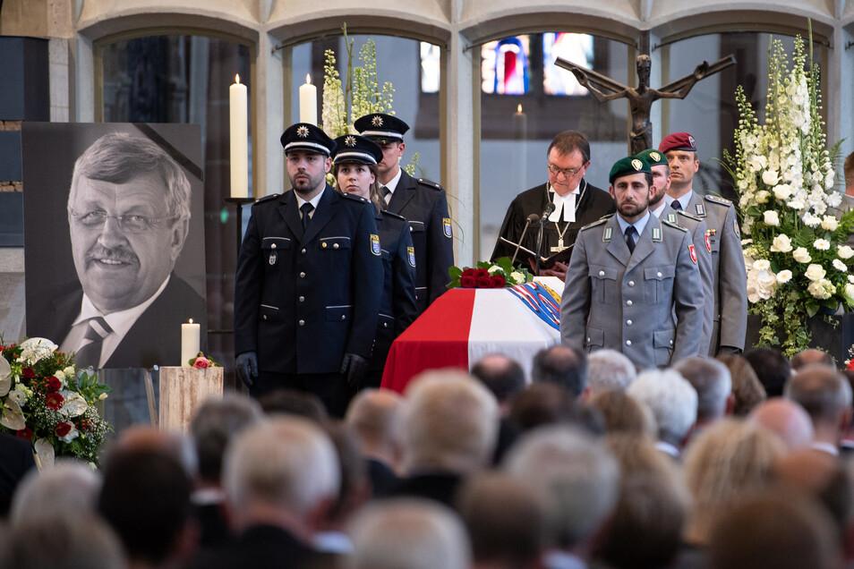 Walter Lübcke wurde am 13. Juni in der Martinskirche in Kassel beigesetzt.